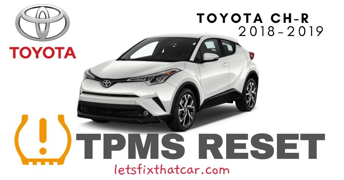 TPMS Reset-Toyota CH-R 2018-2019 Tire Pressure Sensor