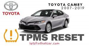 TPMS Reset-Toyota Camry 2007-2019 Tire Pressure Sensor