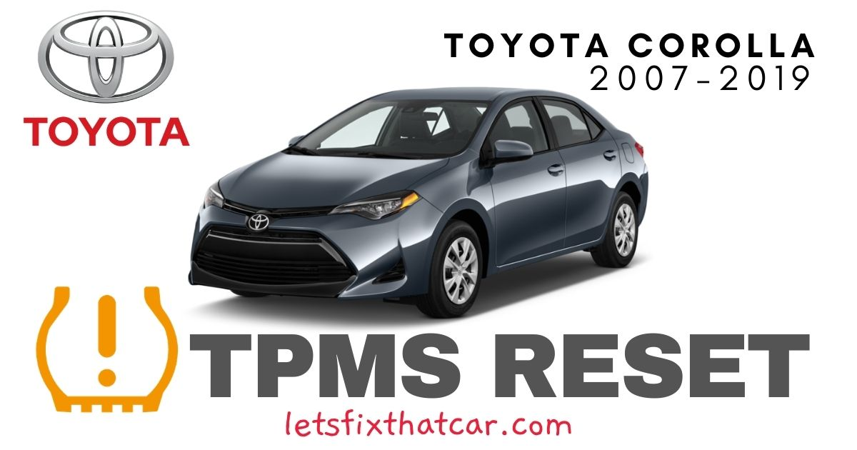 TPMS Reset-Toyota Corolla 2007-2019 Tire Pressure Sensor