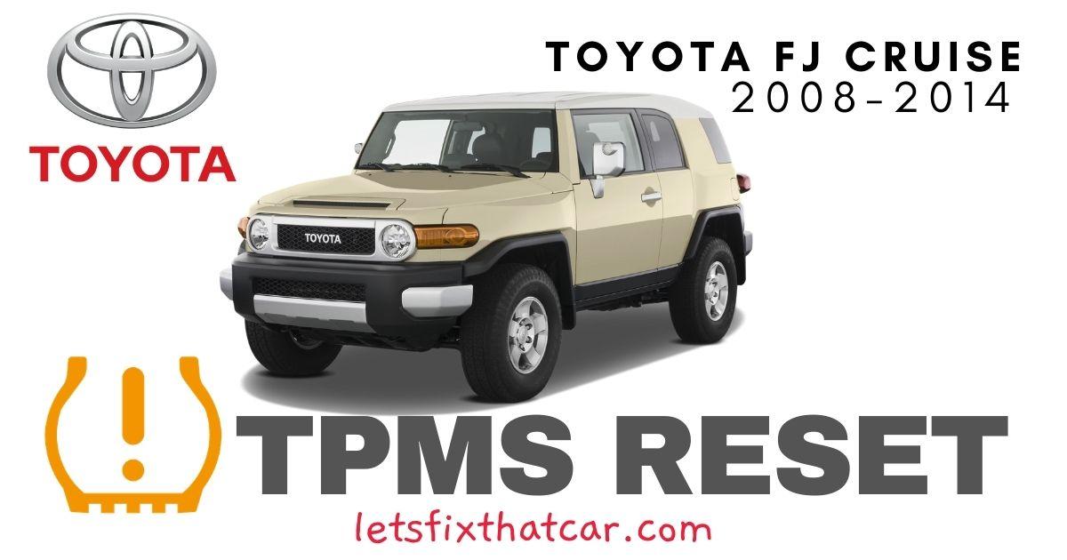 TPMS Reset-Toyota FJ Cruiser 2008-2014 Tire Pressure Sensor