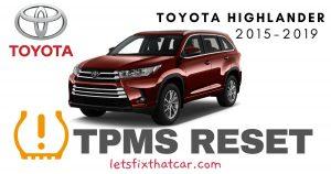 TPMS Reset-Toyota Highlander 2015-2019 Tire Pressure Sensor