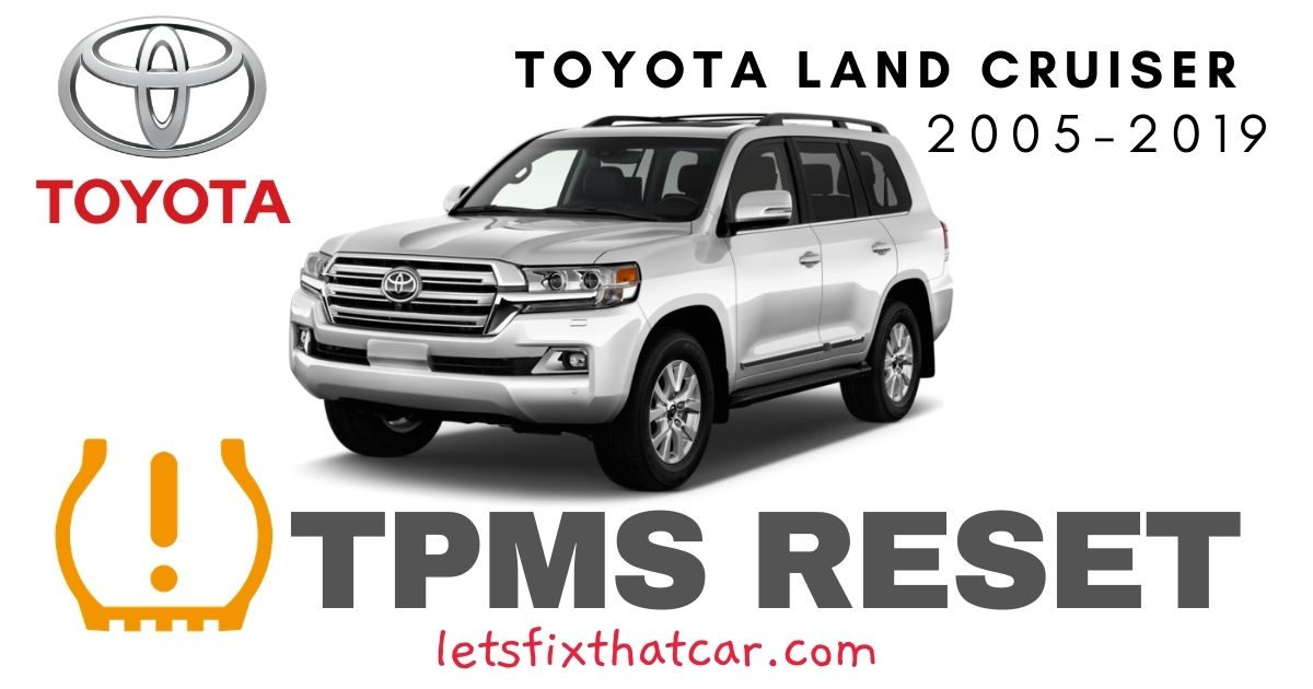 TPMS Reset-Toyota Land Cruiser 2005-2019 Tire Pressure Sensor