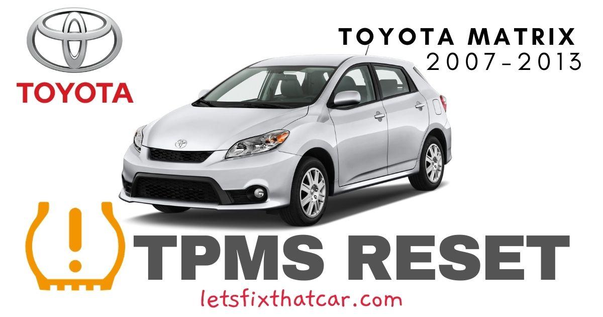 TPMS Reset-Toyota Matrix 2007-2013 Tire Pressure Sensor