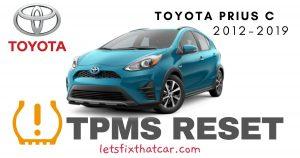 TPMS Reset-Toyota Prius C 2012-2019 Tire Pressure Sensor