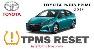 TPMS Reset-Toyota Prius Prime 2017 Tire Pressure Sensor