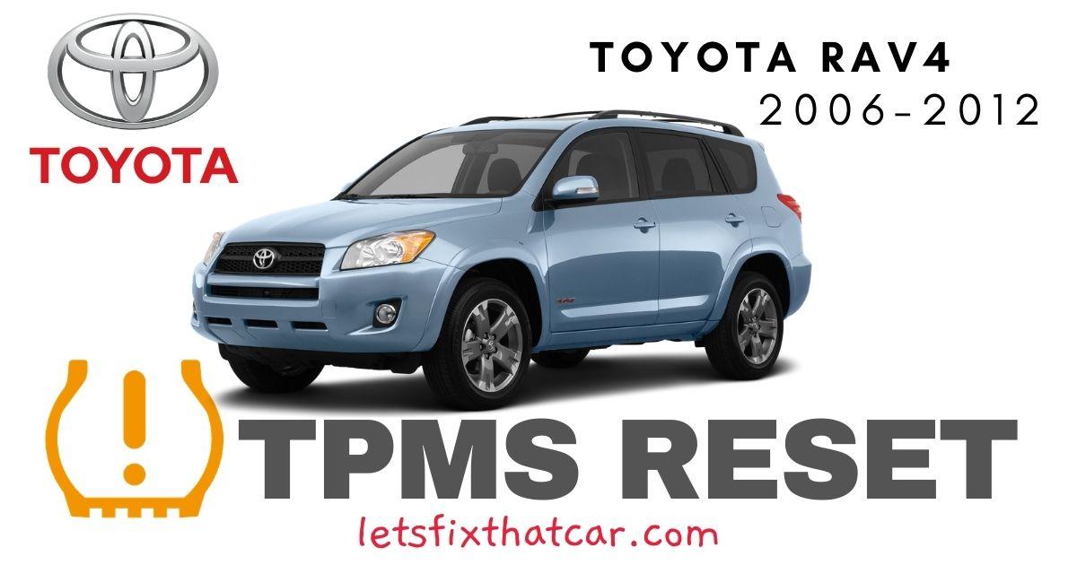 TPMS Reset-Toyota RAV 4 2006-2012 Tire Pressure Sensor