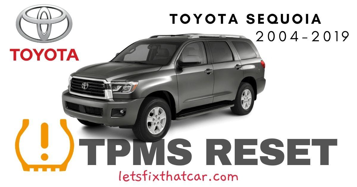 TPMS Reset-Toyota Sequoia 2004-2019 Tire Pressure Sensor