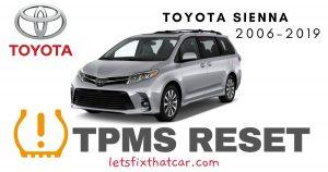 TPMS Reset-Toyota Sienna 2006-2019 Tire Pressure Sensor