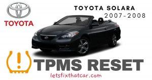 TPMS Reset-Toyota Solara 2007-2008 Tire Pressure Sensor