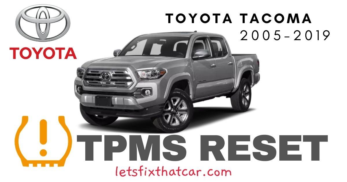 TPMS Reset-Toyota Tacoma 2005-2019 Tire Pressure Sensor