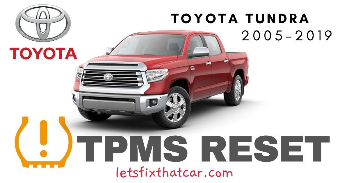 TPMS Reset-Toyota Tundra 2005-2019 Tire Pressure Sensor