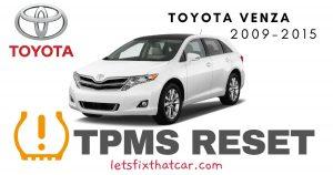 TPMS Reset-Toyota Venza 2009-2015 Tire Pressure Sensor