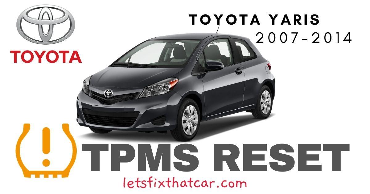 TPMS Reset-Toyota Yaris 2007-2014 Tire Pressure Sensor