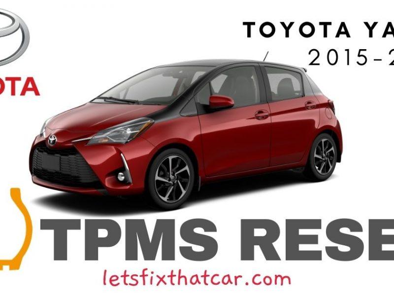 TPMS Reset-Toyota Yaris 2015-2018 Tire Pressure Sensor