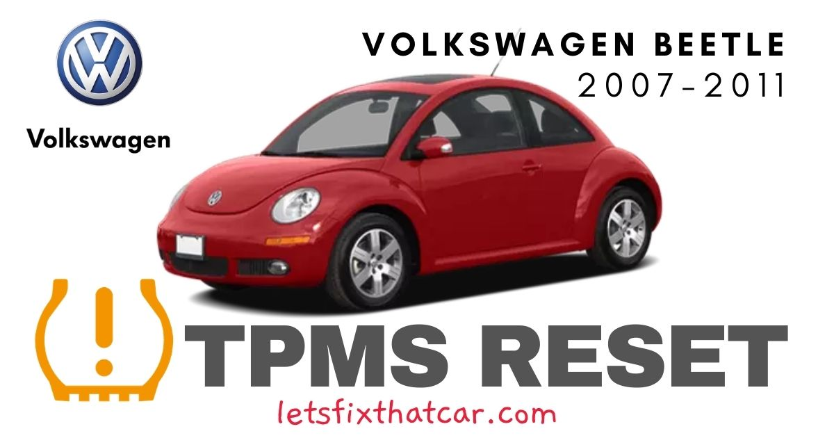 TPMS Reset-Volkswagen Beetle 2007-2011 Tire Pressure Sensor