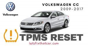 TPMS Reset-Volkswagen CC 2009-2017 Tire Pressure Sensor