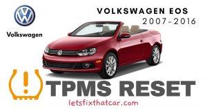 TPMS Reset-Volkswagen EOS 2007-2016 Tire Pressure Sensor