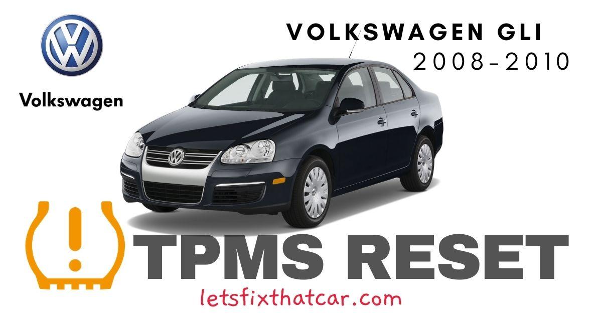 TPMS Reset-Volkswagen GLI 2008-2010 Tire Pressure Sensor