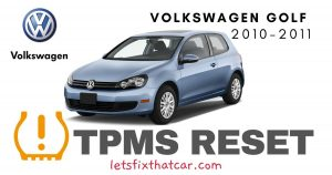 TPMS Reset-Volkswagen Golf 2010-2011 Tire Pressure Sensor