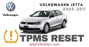 TPMS Reset-Volkswagen Jetta 2005-2011 Tire Pressure Sensor