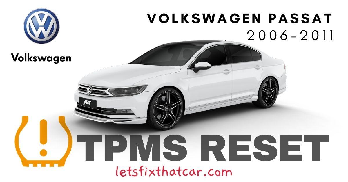 TPMS Reset-Volkswagen Passat 2006-2011 Tire Pressure Sensor