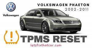 TPMS Reset-Volkswagen Phaeton 2002-2011 Tire Pressure Sensor