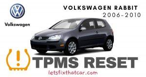 TPMS Reset-Volkswagen Rabbit 2006-2010 Tire Pressure Sensor
