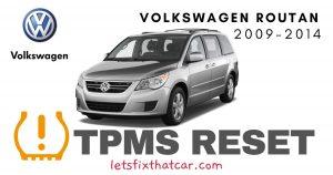 TPMS Reset-Volkswagen Routan 2009-2014 Tire Pressure Sensor
