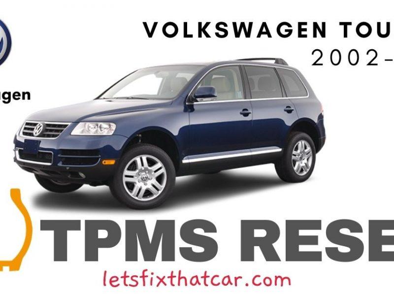 TPMS Reset-Volkswagen Touareg 2002-2006 Tire Pressure Sensor