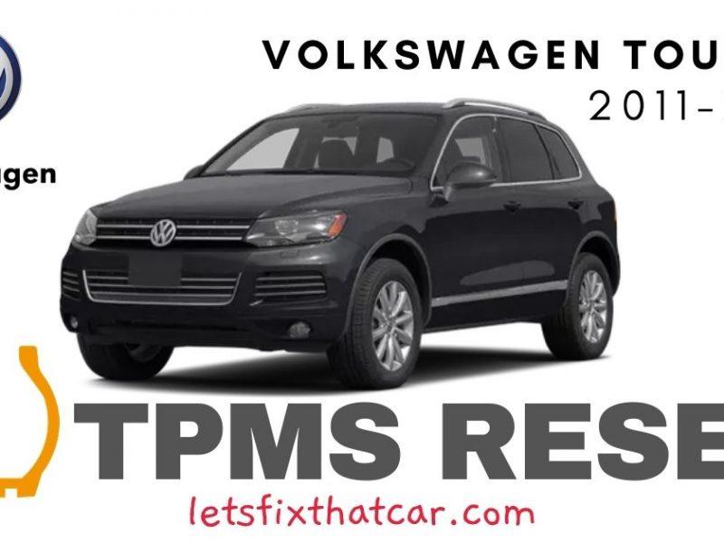 TPMS Reset- Volkswagen Touareg 2011-2014 Tire Pressure Sensor