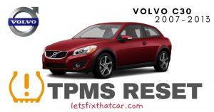 TPMS Reset-Volvo C30 2007-2013 Tire Pressure Sensor