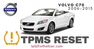 TPMS Reset-Volvo C70 2006-2013 Tire Pressure Sensor
