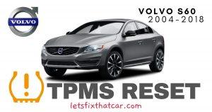 TPMS Reset-Volvo S60 2004-2018 Tire Pressure Sensor