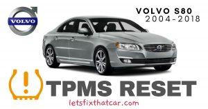 TPMS Reset-Volvo S80 2004-2014 Tire Pressure Sensor