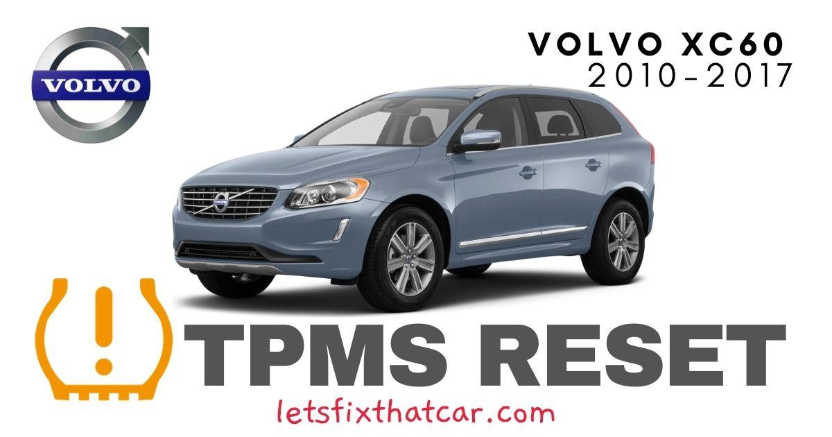 TPMS Reset-Volvo XC60 2010-2017 Tire Pressure Sensor