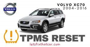 TPMS Reset-Volvo XC70 2004-2016 Tire Pressure Sensor