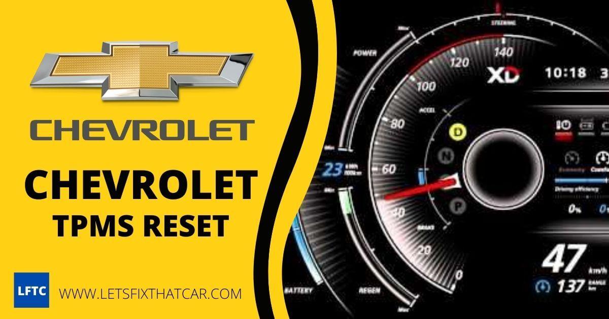 Chevrolet TPMS Reset