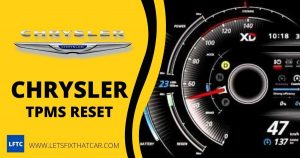 Chrysler TPMS Reset