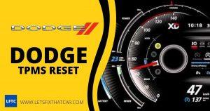 Dodge TPMS Reset