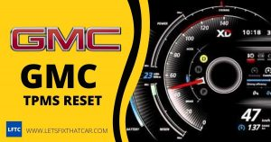 GMC TPMS Reset