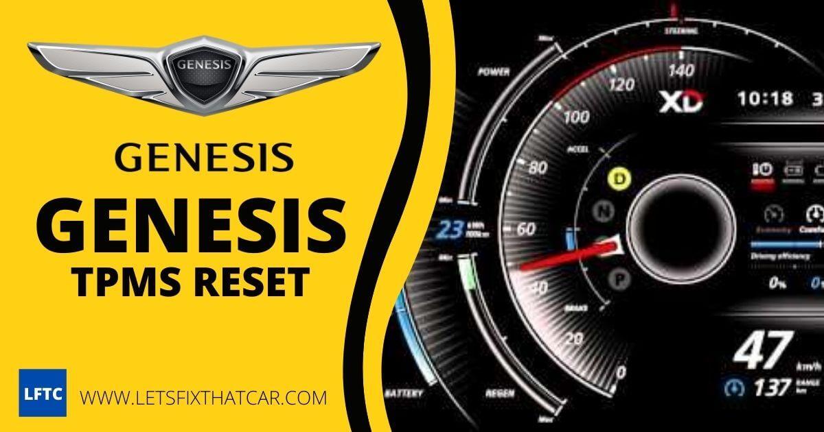 Genesis TPMS Reset