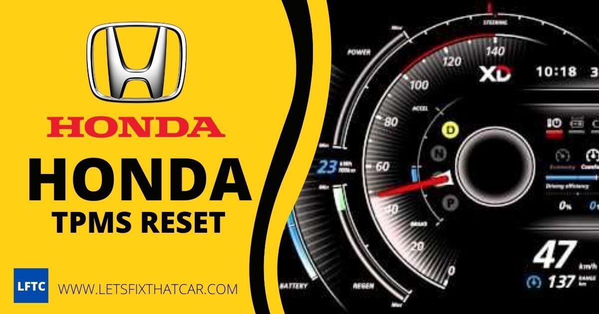 Honda TPMS Reset