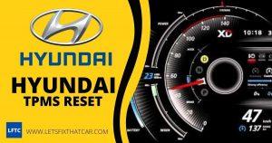 Hyundai TPMS Reset