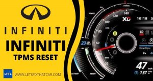 Infiniti TPMS Reset