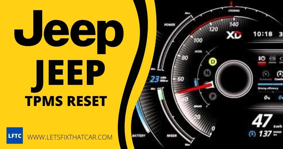 Jeep TPMS Reset