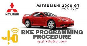 KeyFob RKE Programming Procedure-Mitsubishi 3000 GT 1998-1999