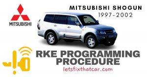 KeyFob RKE Programming Procedure-Mitsubishi Shogun 1997-2002