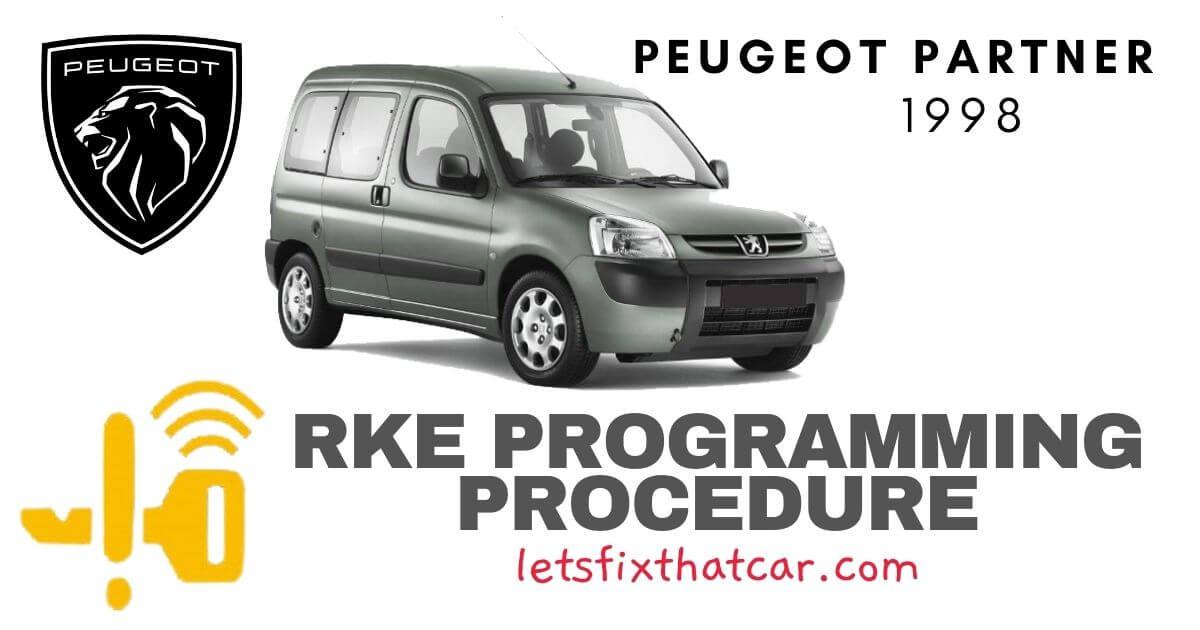 KeyFob RKE Programming Procedure-Peugeot Partner 1998