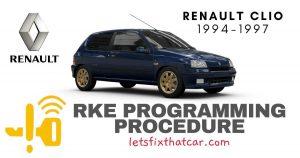 KeyFob RKE Programming Procedure-Renault Clio 1994-1997