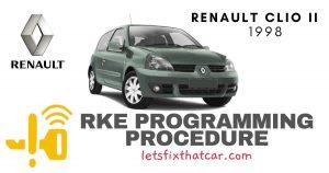 KeyFob RKE Programming Procedure-Renault Clio II 1998